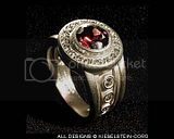 Marie Theresa Ring w Rhodolite
